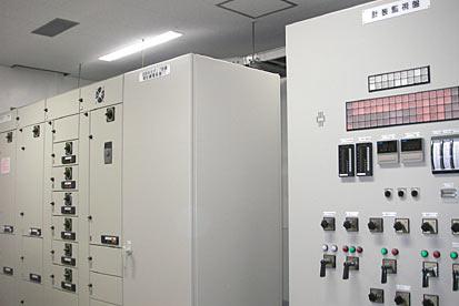 にかほ鈴中継ポンプ場:計装監視盤及び動力盤