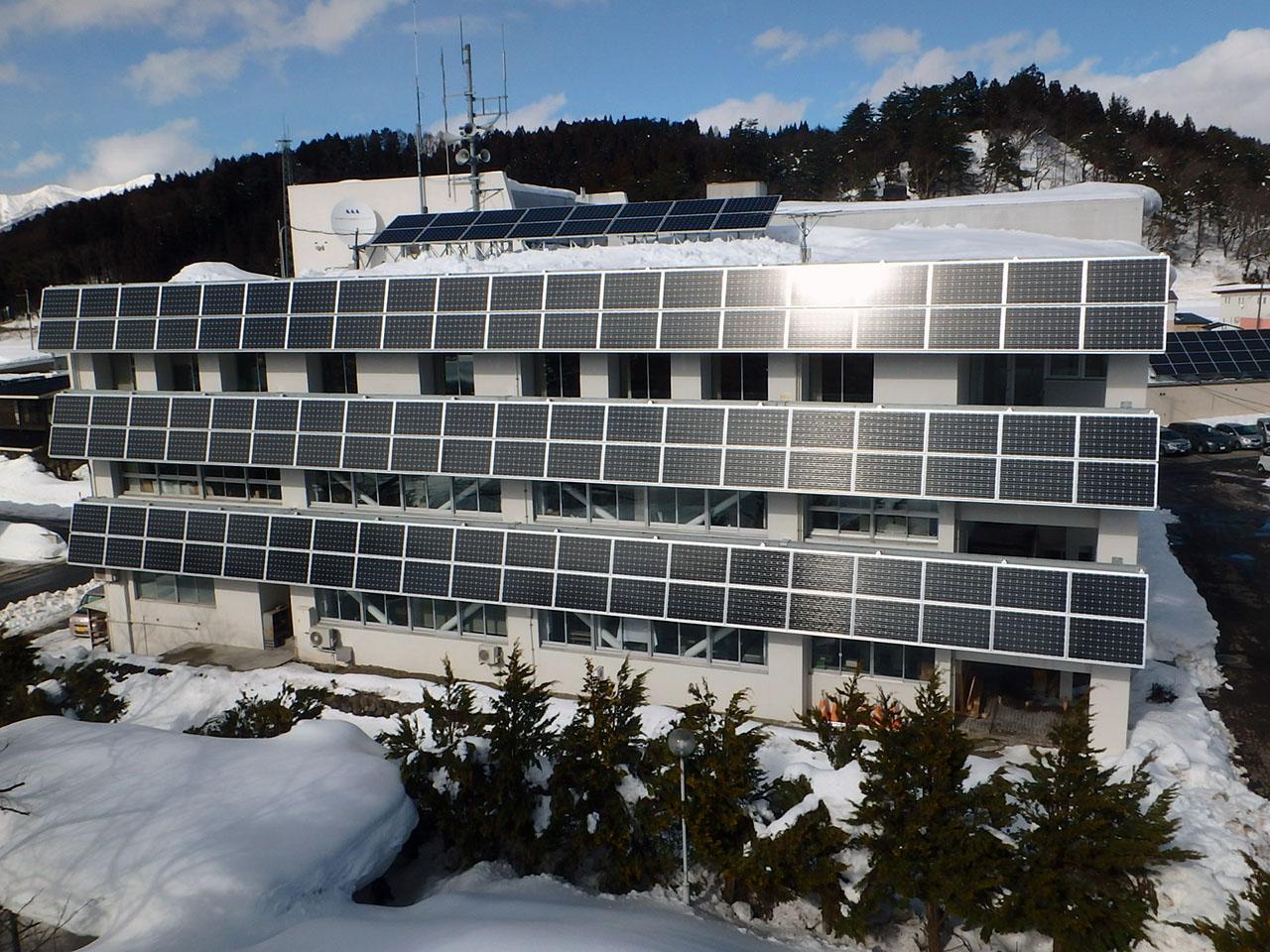 最上町役場庁舎再生可能エネルギー設備